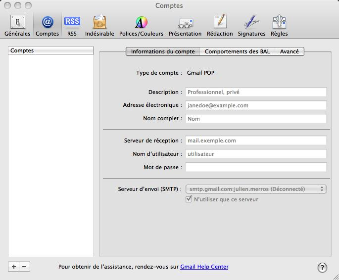 how to add email address to mac mail