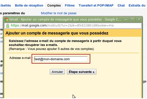 ajouter mon adresse mail sur gmail